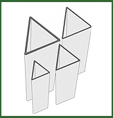 Dreieck-Formrohre