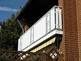 Balkon weiß/grau