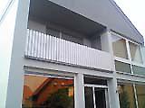Balkon weiß/ gerade