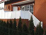 Balkonsichtschutz inkl. Treppe