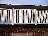 Balkonverkleidung weiß/ gerade