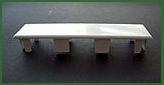 Abdeckkappe für Balkonprofil 120 x 25 mm flach