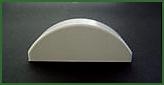 Abdeckkappe für Zaunprofil Standard 82 x 22 mm rund
