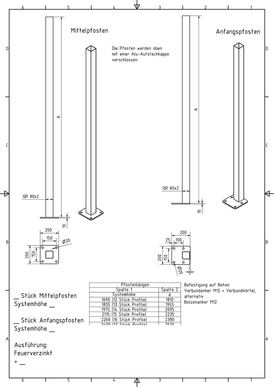 WPC - Schall - Sichtschutz /Montageanleitung