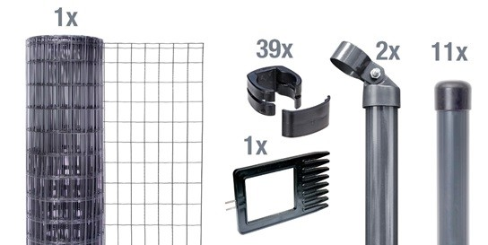 Set Fix-Clip Pro®, zE, anthrazith, 1530/25m