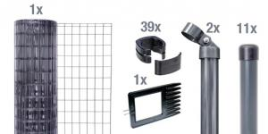 Set Fix-Clip Pro®, zE, anthrazith, 1000/25m